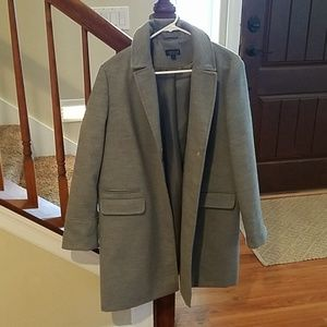 Topshop single breasted coat